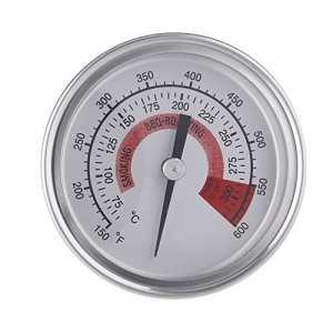 Anself Thermomètre pour Barbecue Thermomètre de Four en Acier Inoxydable Grill Fumoir Thermomètre Double Foyer avec Gage 300°C