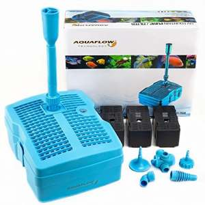 Aquaflow Technology® GFUV-2500 3en1 Filtre & 1000l/h de Fontaine 20W & 9W UV-Clarificateur