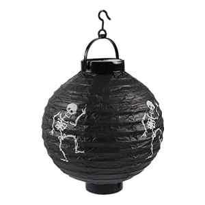 BSTUB 1 PCS Halloween Citrouille Lanterne LED Lampe De Papier Citrouille Lumière pour Halloween Party Bar Haunted Maison Suspendus Décorations (Noir+Blanc)