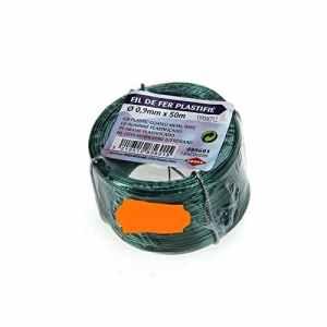 Cogex 01394 Rouleau de Fil de Fer Plastifié Vert 50 m