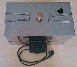 Euro Windkat GmbH Poêle à Herbes de Table en zingué avec kit électrique