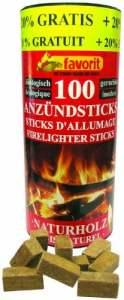 Favorit 1257 Bâtons Allume-feu Naturel en Boîte Décorative