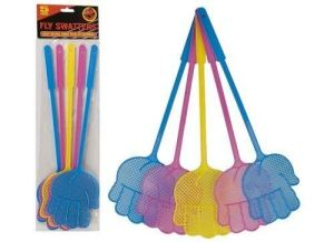 free uk post FLY BEE WASP BUG INSECT SWATTER ASSORTED COLOURS X 5 by tablecloths4u