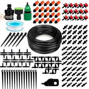 HZT DIY Système d'Arrosage automatique, Kit d'irrigation Goutte à Goutte et de vaporisation pour Jardin Serre Potager Pelouse (15m)