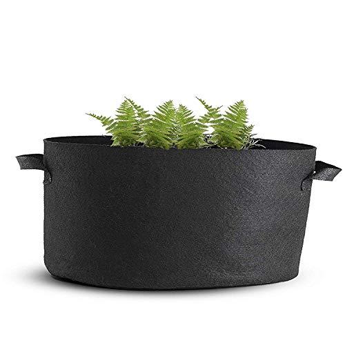 Mophorn Plante pour sac de croissance Pots de tissu d'aération avec poignées pour sac de croissance Noir bac à fleurs pour jardin plantation lavable et réutilisable 10-Pack 300 Gallon