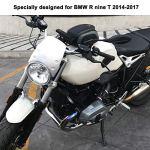 Pare-brise en aluminium de pare-brise de moto pour R neuf T 2014-2017 pièces de moto (argent)