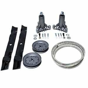 Remplace d'artisanat 106,7cm Craftsman Lt1000LT2000Rebuild kit fuseaux poulies Kevlar Ceinture Oregon Lames 130794134149173436144959