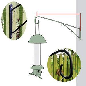 Roamwild Pestoff Grande mangeoire à Oiseaux Murale Post Support d'accrochage Crochet de Suspension–Mangeoire à Oiseaux Mural Version–40cm/45,7cm