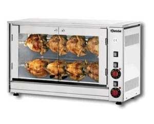 Rôtissoire poulet électrique // broches pour 8 poulets