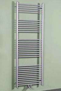 Sèche-serviettes eau chaude Nassjo 748W 1760 x 600 mm – Argent – Plat