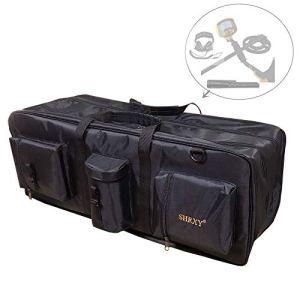 shrxy détecteur de métaux Sac de Transport Portable Toile imperméable Sac de Rangement Double Couche de Transport Outils Organiseur Sac à Dos pour Le métal détecter