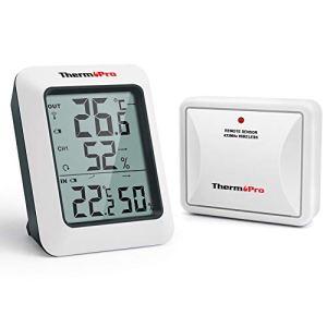 ThermoPro TP60S Thermo-hygromètre Numérique sans Fil, Thermomètre Hygromètre Intérieur et Extérieur, Moniteur D'humidité et Jauge de Température, 60m à Distance