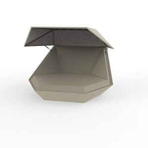 Vondom Faz Daybed lit de jardin con parasol écru