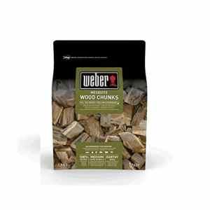 Weber fumage Wood Chunks morceaux de bois Mesquite, marron, 17,8x 8,9x 30,5cm, 17620