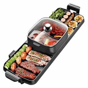 2 en 1 BBQ & Hot Pot, Gril de table et Hot Pot (6-8 Personnes), Raclette électrique – Non Stick – Une excellente idée cadeau