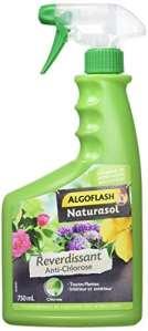ALGOFLASH NATURASOL Anti-Chlorose Reverdissant Toutes Plantes, Prêt à l'Emploi, 750 ml, BIOCLOPRETAN