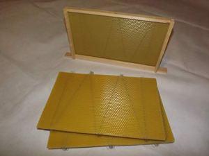 Beekeeping Supplies UK Lot de 20 Fonds de Teint en Cire d'abeille Filaire pour boîtes de poulailler Britanniques