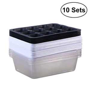 BESTOMZ Lot de 10 graines de Germoir Plateau Germination bacs bacs à semis Starter Plante Grower Plateau Saine Herbe de blé Grower cavité (12)