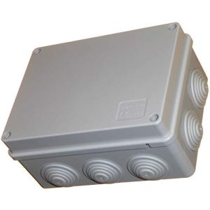 Boîte de dérivation 150 mm avec œillets étanches IP56 PVC adaptable Enclos pour éclairage extérieur Connecteur électrique