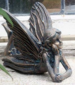 FHFY Garden Statue d'ange pour l'extérieur Angela Lying