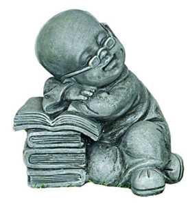 Fhfy Home Bouddha assis lecture Intérieur Statue