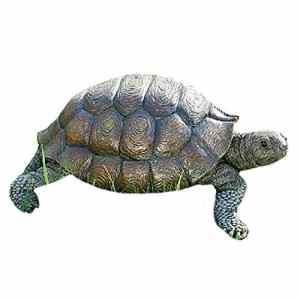 Figurine tortue décorative en résine, environ 34 cm x 25 cm x 14 cm
