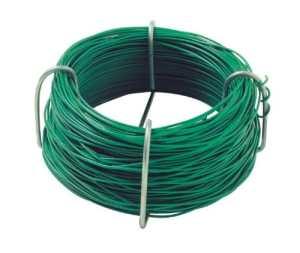 Greengeers 95620 Rouleau de fil de fer plastifié 50 Mètres