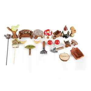 Hobbygroß‿Mini Ensemble de Jardin en polyrésine Nains 1,5-4,5/0,3-12 cm 20 pièces