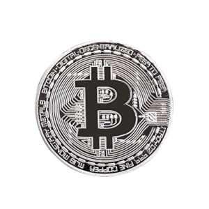 ROSENICE Bitcoin Collectible physique BitCoin Art Collection Souvenir cadeau (argent)