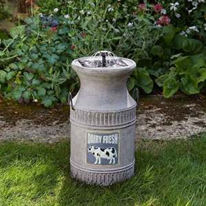 Smart Solar Pot à lait Fontaine d'extérieur Fontaine (solaire)