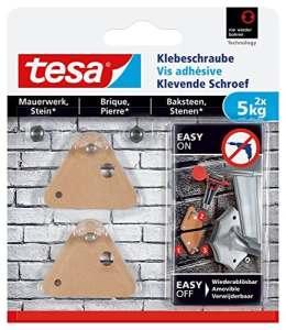 tesa 77904 – Lot de 2 Vis adhésives triangle pour brique 5 Kg