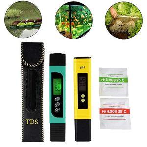 Testeur TDS+EC+Thermomètre 3en1 et pH mètre avec fonction d'étalonnage automatique, précision Moniteur de qualité d'eau Stylo stylo portable pour eau potable, aquariums, piscines et spas