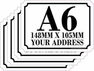 The Lazy Cow Lot de 4 Stickers personnalisés pour Poubelle à roulettes avec numéro et nom de la Route A6 A6 Blanc