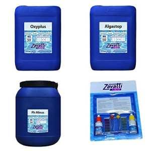 Zavattishop Kit 150 Kg No-Klor produits chimiques pour piscine