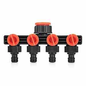 Zhuhaimei,Joint en Plastique pour séparateur d'eau à 4 Voies(Color:Noir)