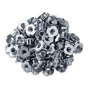100 x Écrous à Griffes M10 x 12 x 24 mm avec 4 Pointes pour la Fixation de Composants de la Fabrication de Meubles Écrous de Butée de SO-TECH