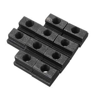 10pcs M8 T Slot Nuts Set Black Oxide Finish T-slots Nut For T Track
