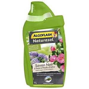 ALGOFLASH NATURASOL Savon Noir concentré, pour jardin, plantes d'intérieur et entretien maison, Utilisable en agriculture biologique, 1 L, BIOSAV1000A