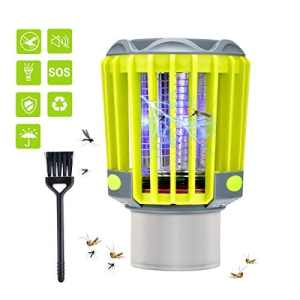 BASEIN Bug Zapper Outdoor, Lampe Anti-Moustique Electronique d'extérieur Anti-Moustique pour Extérieur, Lampe LED de Nuit Rechargeable, Rechargeable Zapper Mosquito, Imperméable pour Le Camping