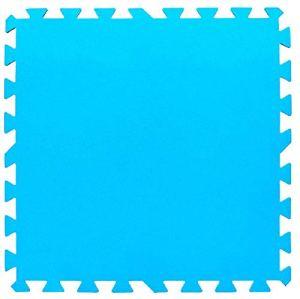 BestwayTapis de protection 9 pièces bleu 50 cm x 50 cm x 4 mm, surface totale 2,20 m2