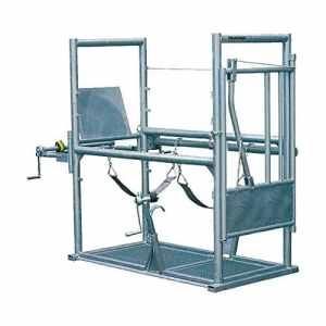 Cage de parage Pro 1, porte arrièretreuil, protection anti-déjections – 310006