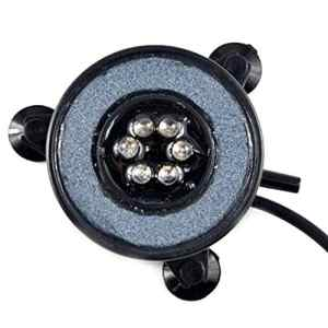 Deanyi 7 Couleurs Waterproof LED Poisson Lampe réservoir Submersible Mini-Aquarium lumières Bubble Aquarium éclairage Aeration Disque Lampe décorative EU Plug