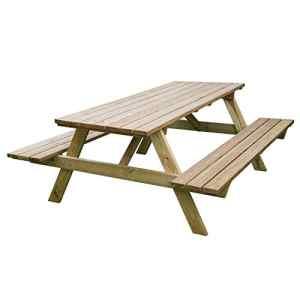 Evergreen EG51785 Table de pique-nique, pub et brasserie en bois imprégné, avec bancs