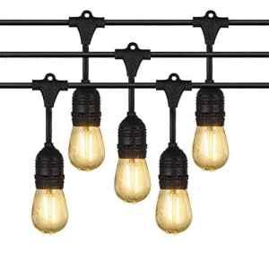 Extérieur Guirlandes Lumineuses, iEGrow 10 Mètres LED Imperméabiliser Connectable Chaîne de lumières 10 E27 pont d'Edison Ampoules Rétro pour Porche Deck Taverne Patio Jardin Fête