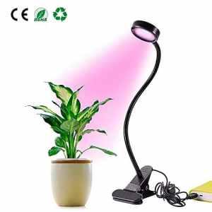 GLIME Lampe de Croissance Floraison LED Flexible 2 Niveaux de Lumère USB Ampoule de Culture Lumière de Plante