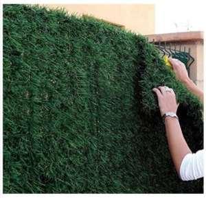 Haie de jardin artificielle, en rouleau de 1,5x3m (4,5m²) – Idéale pour balcon ou clôture – Aspect sapin – Ultra couvrant