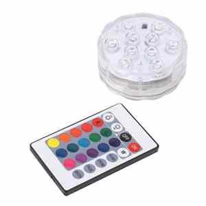 Homyl Éclairage Lumière de Piscine Jardin Aquariums + Télécommande Couleur Changeante – 7cm 10 LED