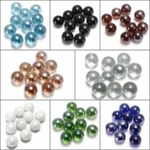 Kyz Kuv Gorgeous Lot de 10 billes en verre 16 mm perles boules de décoration Marron foncé