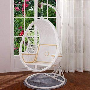 Rocking chair Fauteuil à Bascule Health UK Outdoor Simple Suspendu Étanche Jardin Blanc