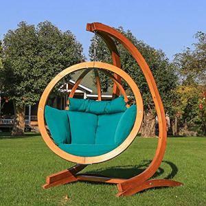 Rocking chair Healthcare Healthcare Fauteuil à Bascule en Bois Massif Rotatif à 360° pour Jardin inclinable